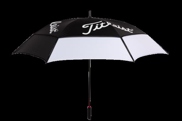 The Titleist Tour Double Canopy Umbrella TA8PLDCU-01 is the most popular Titleist golf umbrella.
