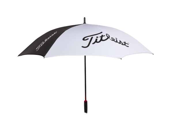 The Titleist Tour Single Canopy TA8PLPSCU-01 still benefits from the anti-inversion system to make is a wind resistant umbrella