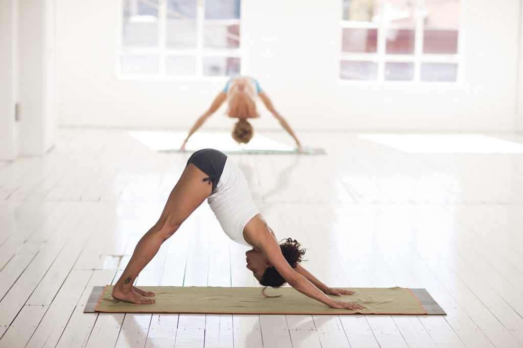 Downward dog is a popular pose when beginning yoga for golfers