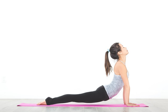 Picture of Upward facing dog which is great yoga for golfers pose