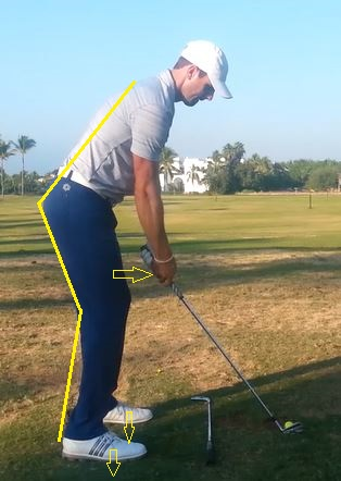 Photo of a golf stance with a good knee bend