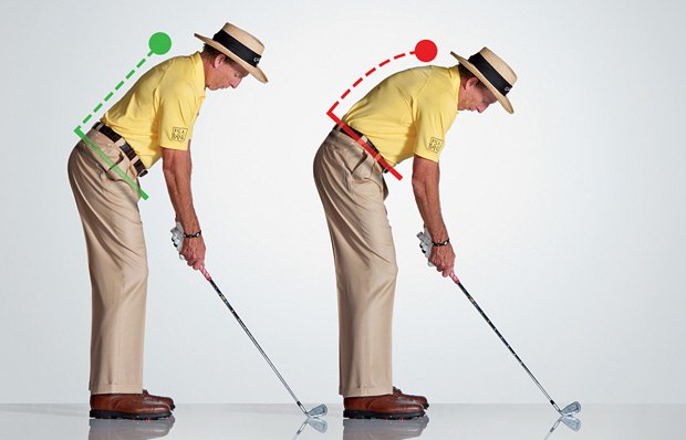 Golf Stance needs proper posture which begins at the Hip Hinge