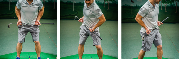 Golf drills like the hip rotation help golfers understand how their lower body moves.