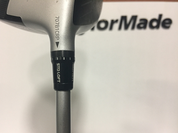TaylorMade Hosel sleeve for adjustments