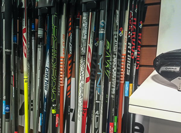 Assortment of Howard's Golf Demo Shaft from TaylorMade available for testing