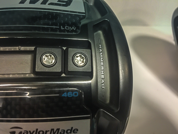 Closeup of the TaylorMade M3 driver HammerHead Slot