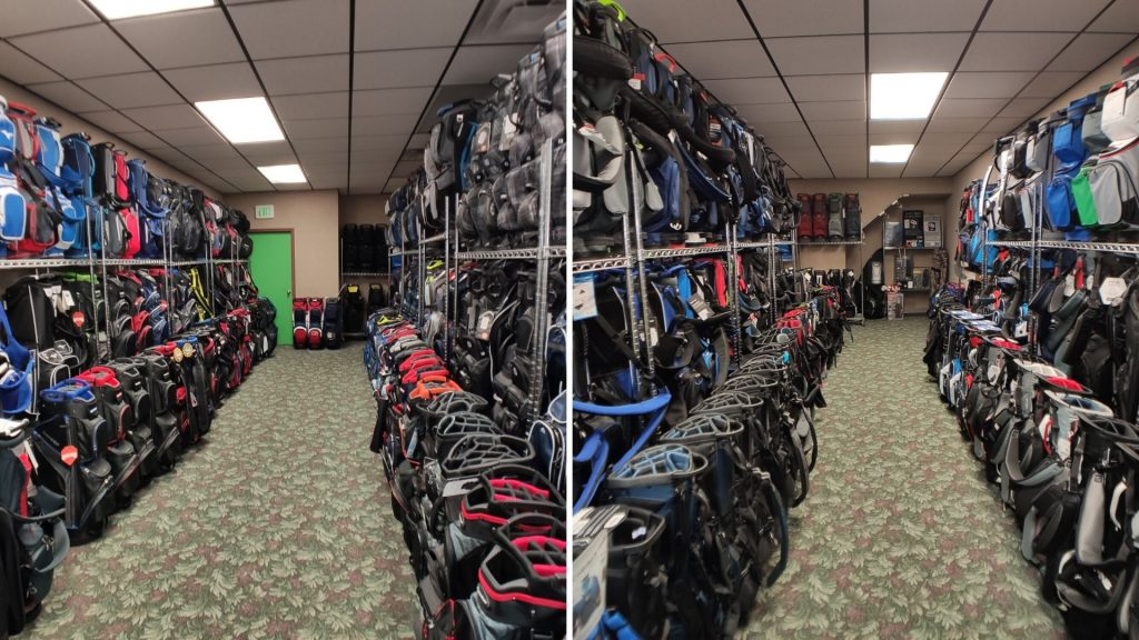 Golf Cart and Stand Bags at Howard's Golf